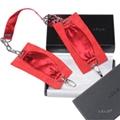 瑞典 LELO 絲綢系列 SUTRA CHAINLINK CUFFS 絲綢手銬 (紅)