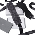 瑞典 LELO 絲綢系列 ETHEREA SILK CUFFS 緞帶編織手銬 (黑)