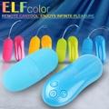 繽紛小精靈-colors your life 20頻防水靜音遙控跳蛋-藍