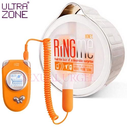 美國Ultrazone-Ring Me 情慾熱線 5段變頻跳蛋-橘