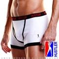 美國HUSTLER-簡約純棉低腰男士平口內褲-白(XL)