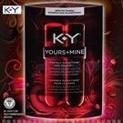 美國K-Y-Yours + Mine Kissable Sensation 偷心熱吻 頂級潤滑液(2瓶共88ml)