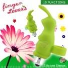 Finger Lover-手指情人10段變頻防水造型兔蛋-綠