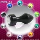 CICILY-後庭焦點-金屬寶石後庭塞-黑