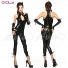 虐戀精品CICILY-魔女神兵 繞頸美胸 塗膠仿皮性感彈力 緊身膠衣