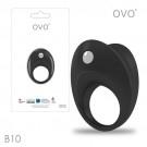 德國OVO-B10 前衛男性 矽膠靜音時尚震動環-黑色