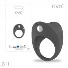 德國OVO-B11 前衛男性 矽膠靜音時尚震動環-鐵灰色