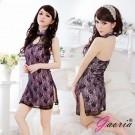 【Gaoria】流金年代-修身側開透明蕾絲旗袍性感情趣睡衣