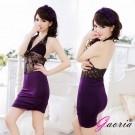 【Gaoria】傾城嬌羞-透明蕾絲古典氣質性感情趣睡衣-紫