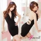 【Gaoria】夜店奢華-黑色深V露乳 露背 情趣睡衣