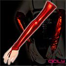 虐戀精品CICILY 女性過肘 仿皮 造型長手套-紅