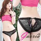【Gaoria】微甜浪漫 蕾絲花邊性感透視 內褲 黑
