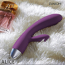 美國SVAKOM Alice 愛麗絲 智能模式雙重功能8段變頻防水按摩棒 紫羅蘭