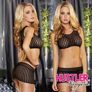 美國Hustler 美式風格 惹火曲線 兩件式 性感網衣