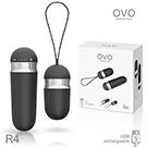 德國OVO R4 艾莎 5段變頻 多功能  陰蒂刺激無線遙控跳蛋 充電式 黑色