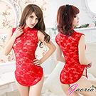 【Gaoria】東方佳人 半透網紗性感旗袍 角色服 紅