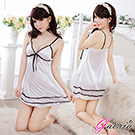 【Gaoria】微妙甜心 性感露乳絲綢情趣睡衣睡裙
