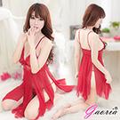 【Gaoria】妖媚人心 拼接 透明情趣睡裙睡衣 紅