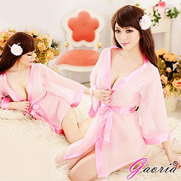 【Gaoria】清純小百合 誘惑睡衣睡裙 外罩衫 睡袍