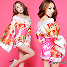 【Gaoria】多情京都 情趣 絕美和服三件組 紅