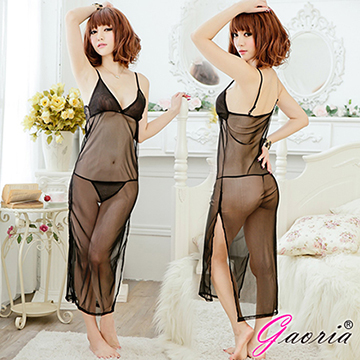【Gaoria】浪漫倩影 薄紗半透明長裙 情趣睡裙睡衣