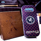 Durex杜蕾斯 x Porter 更薄型鐵盒限定版 12入 黑紅格紋