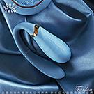法國ZALO 凡爾賽系列 Fanfan 情侶雙人共享按摩器 獨立版 金屬表面24k金 皇室藍