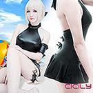 虐戀精品CICILY Fate吾王黑saber泳衣泳裝cos死庫水cosplay動漫服裝女漫二次元