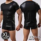 VENUS 我是健美男 SM仿皮性感T恤 XL