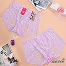 【Gaoria】性感蜜臀 蕾絲網紗 性感情趣三角內褲 淺紫