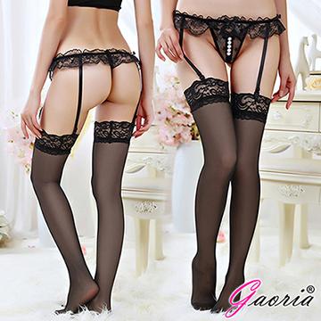 【Gaoria】寵愛甜心 開襠 性感珍珠按摩內褲私處按摩丁字褲 黑