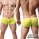 VENUS 男士性感情趣 條紋性男士 四腳平口褲 黃