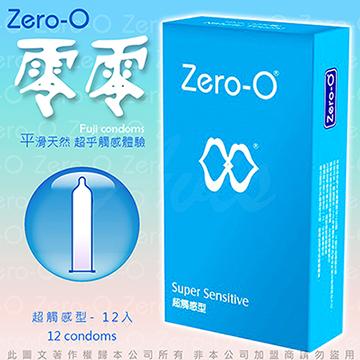 ZERO-O 零零衛生套 保險套 超觸感型 12片 藍