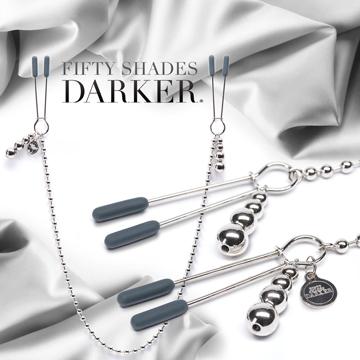 Fifty Shades Darker 格雷的五十道陰影2-束縛  可調式串珠鍊條 乳頭夾