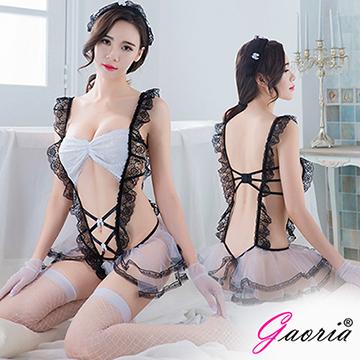 【Gaoria】可愛俏皮小女傭 性感透視網紗 連體 情趣睡衣