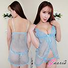 【Gaoria】午夜獵物 性感透明小可愛 性感情趣睡衣 水藍