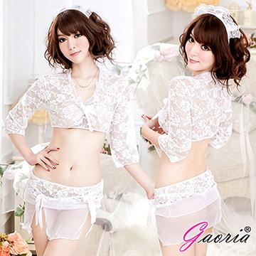 【Gaoria】含苞待放 蕾絲網紗 性感女傭 角色扮演 性感情趣睡衣