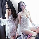 【Gaoria】浪漫不羈 波希米亞風線條深V蕾絲 性感情趣睡衣