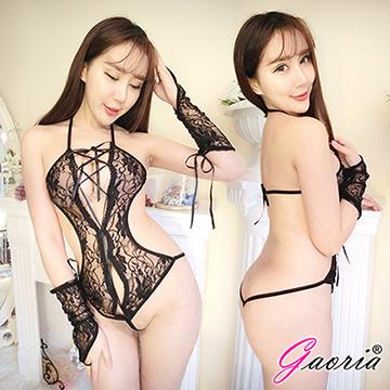 【Gaoria】燃燒你心 性感熱火+雙手套連身衣 性感情趣睡衣
