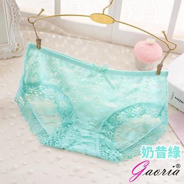 【Gaoria】悸動芳心 低腰蕾絲 性感內褲三角褲 奶昔綠