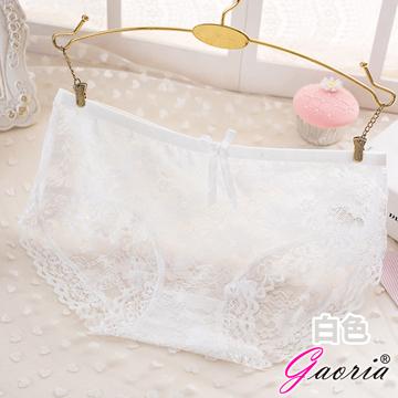 【Gaoria】悸動芳心 低腰蕾絲 性感內褲三角褲 白