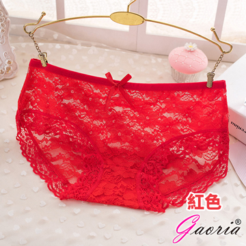 【Gaoria】悸動芳心 低腰蕾絲 性感內褲三角褲 紅