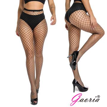 【Gaoria】網眼襪 鏤空連褲襪 牛仔褲打底襪 漁網襪 黑 中大網