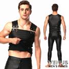 Venus 男士漆皮無袖衣+漆皮長褲 舞台表演衣 摔角衣