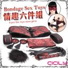 CICILY SM 中國風情趣 情趣六件組 乳貼/鞭子/羽毛/眼罩/束腰/手銬