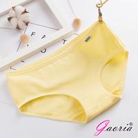【Gaoria】純棉面料 糖果色棉質 三角褲-黃
