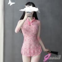 【Gaoria】復古典雅 蕾絲立領旗袍