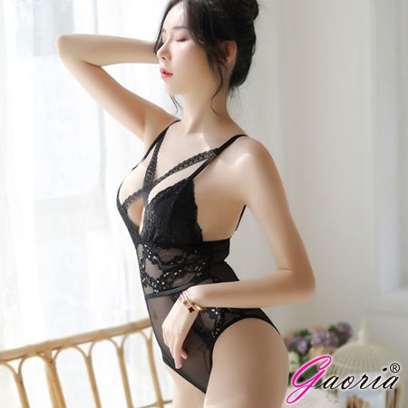 【Gaoria】情逗愛人 高衩性感連身 情趣睡衣 黑