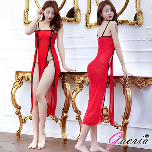 【Gaoria】 羅曼蒂克 性感誘惑長裙 性感情趣睡衣 紅