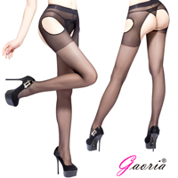 【Gaoria】四面開檔絲襪-黑